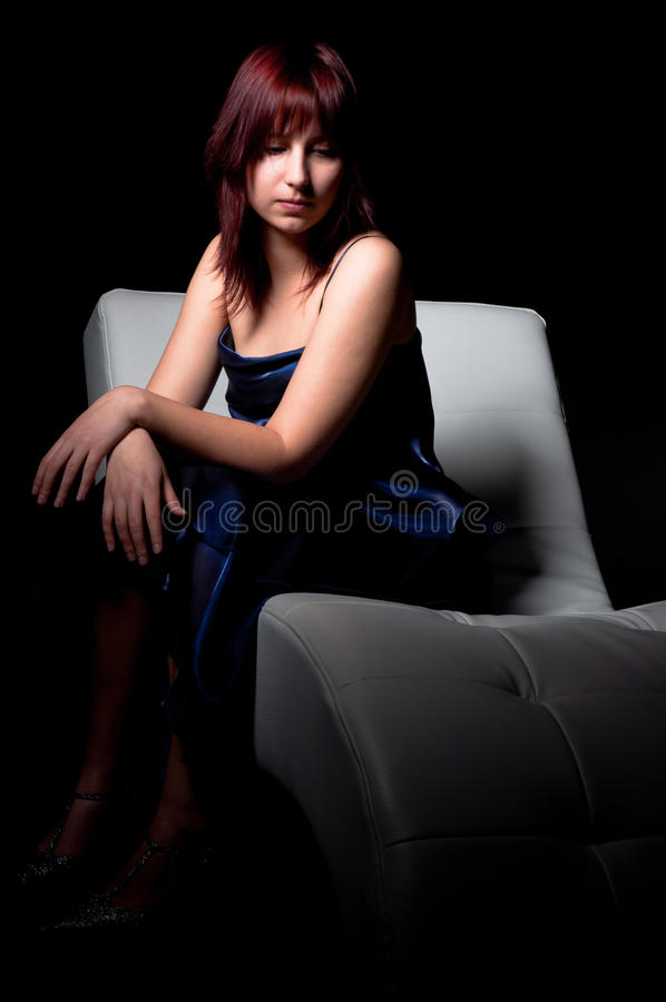 Mulher bonita da forma foto de stock
