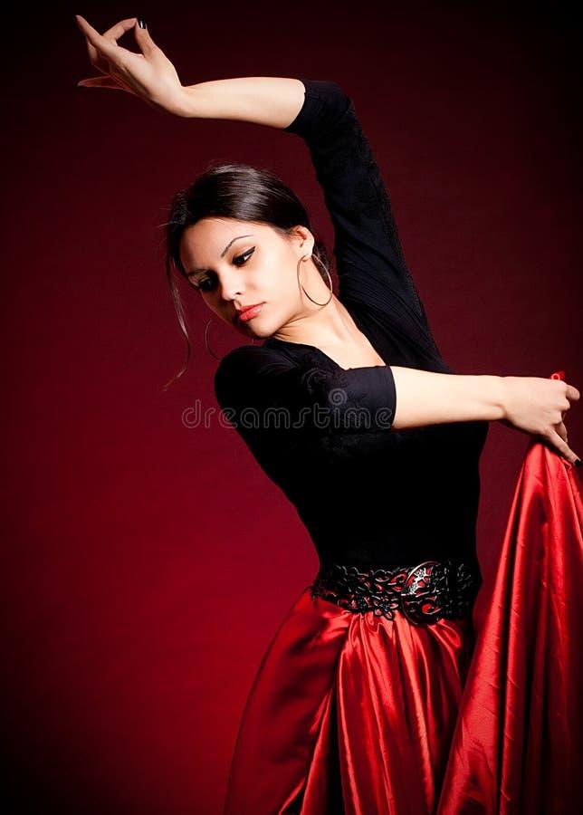 Mulher bonita de Carmen do Flamenco imagem de stock royalty free
