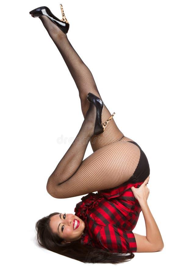 Mulher bonita de Pinup fotos de stock royalty free