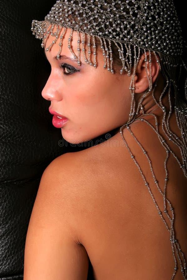 Mulher bonita do americano africano imagens de stock
