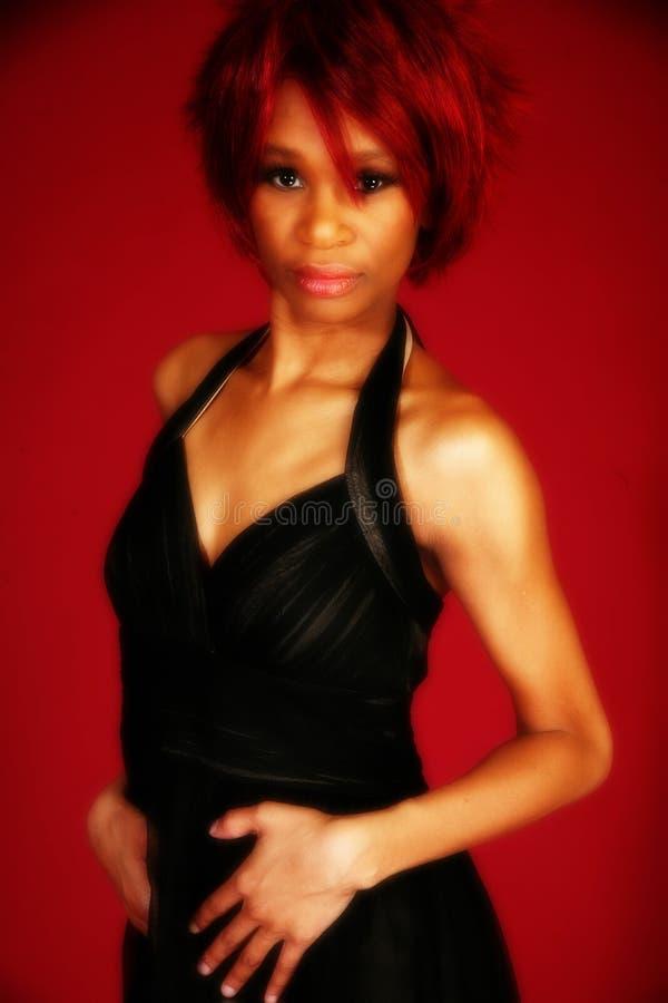 Mulher bonita do americano africano fotografia de stock