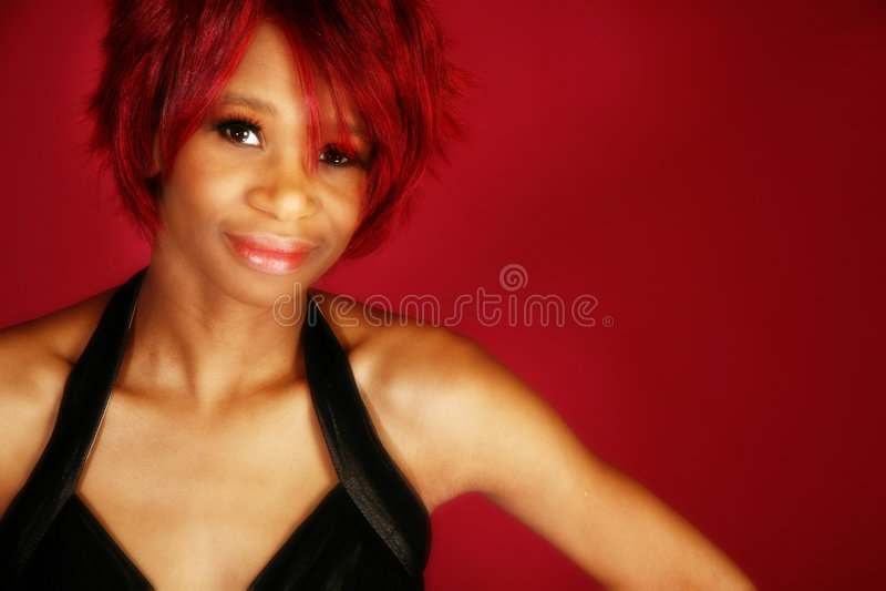 Mulher bonita do americano de Affrican foto de stock royalty free