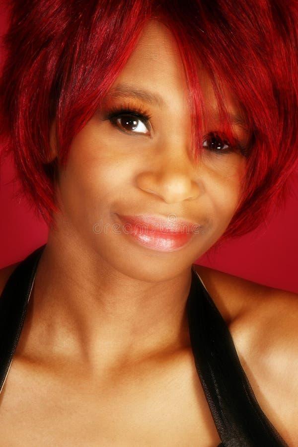 Mulher bonita do americano de Affrican fotos de stock royalty free