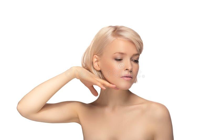 Mulher bonita do cabelo louro fotografia de stock royalty free
