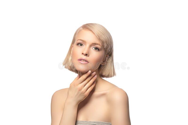 Mulher bonita do cabelo louro fotografia de stock
