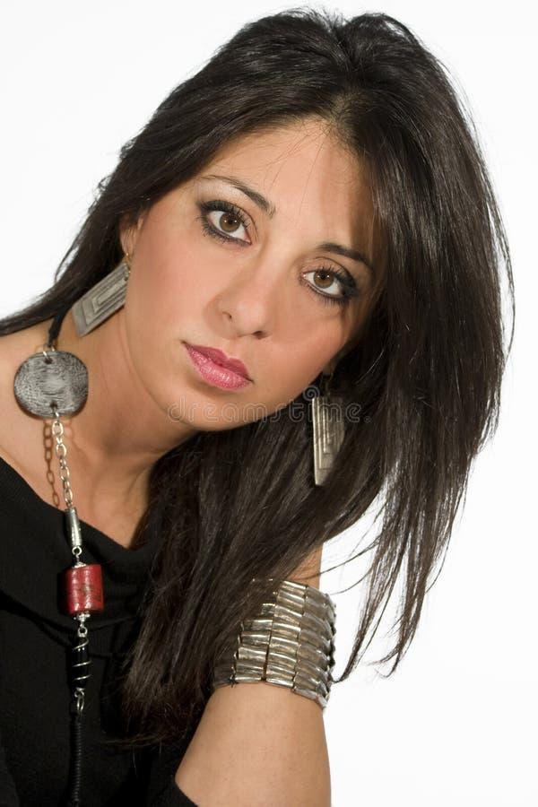 Mulher bonita do estilo de cabelo foto de stock royalty free