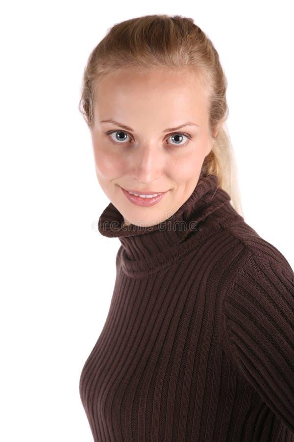 Mulher bonita do retrato foto de stock royalty free