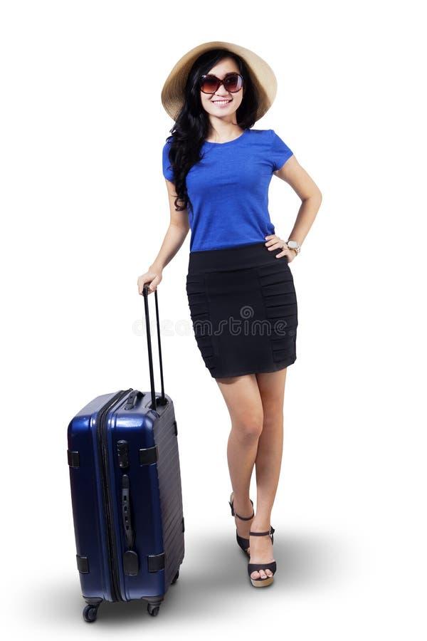Mulher bonita do turista fotografia de stock