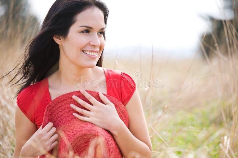 Mulher bonita do verão ao ar livre imagem de stock