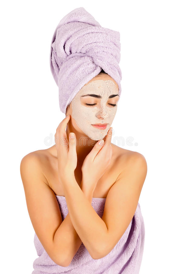 Download Mulher com máscara facial imagem de stock. Imagem de argila - 29833517