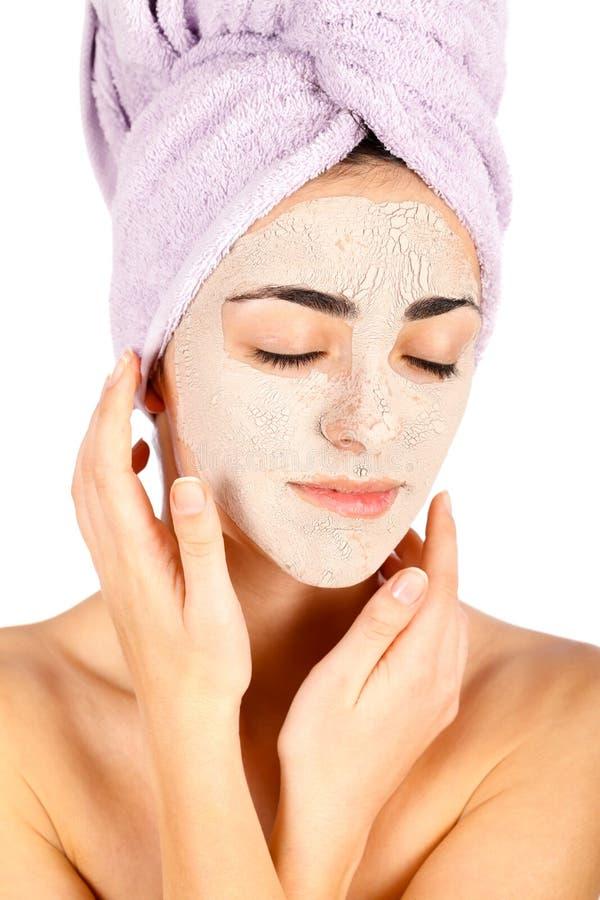 Download Máscara facial da argila imagem de stock. Imagem de fêmea - 29833543