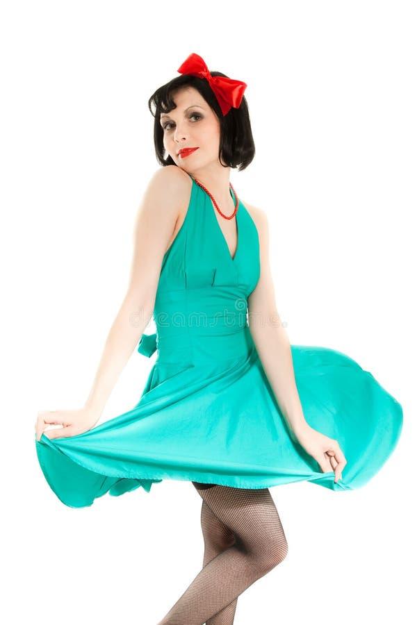 Mulher bonita no vestido de Halloween foto de stock royalty free