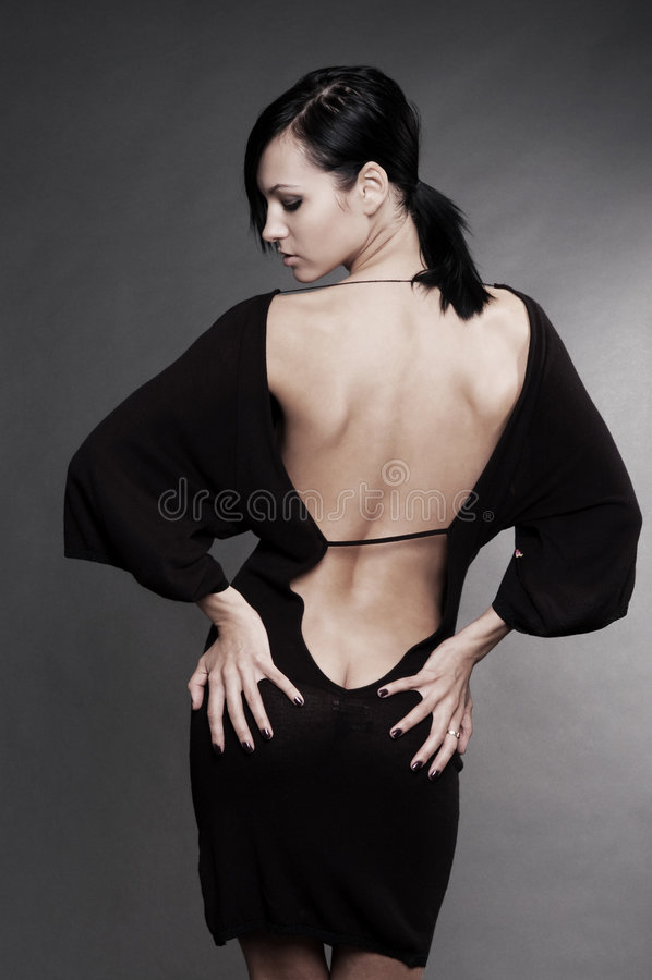 Mulher bonita no vestido de noite 'sexy' imagens de stock royalty free