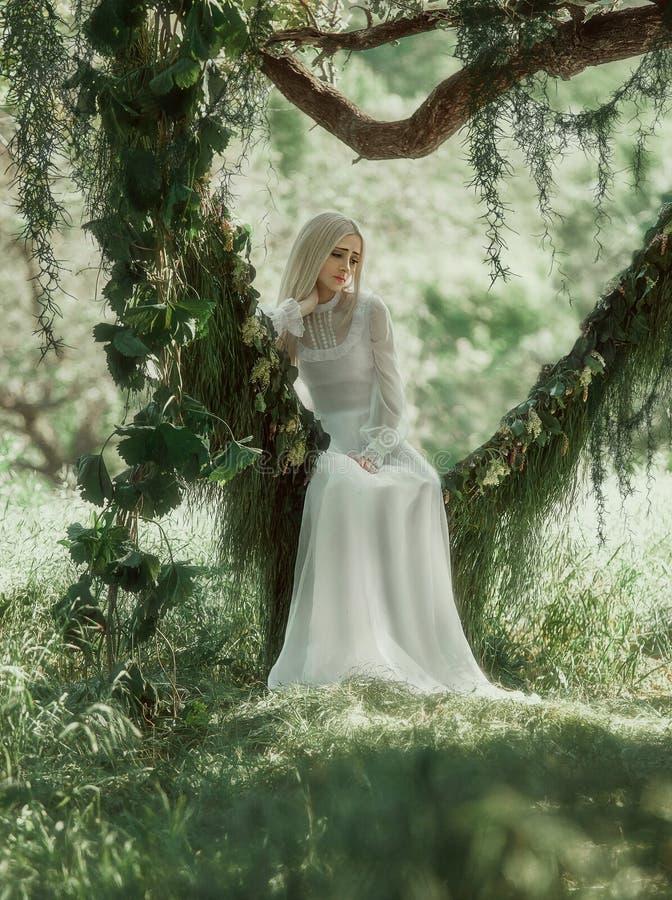 Mulher bonita no vestido do vintage imagens de stock