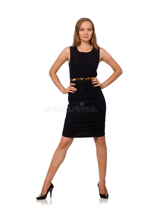 A mulher bonita no vestido preto imagem de stock royalty free