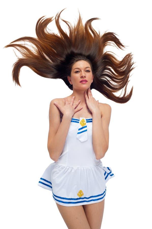 Mulher bonita nova do marinheiro imagem de stock royalty free