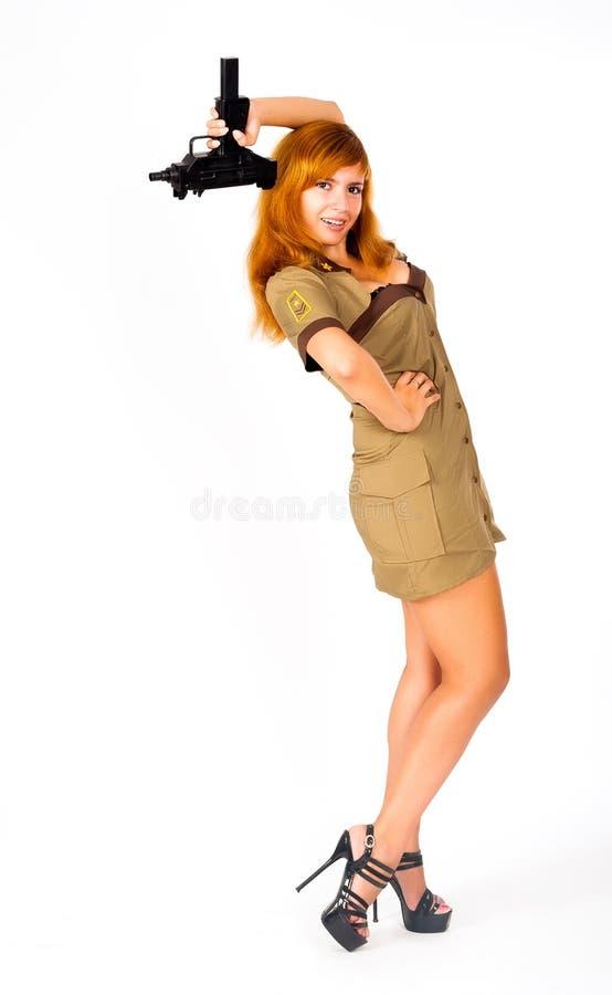 Download Mulher Bonita No Uniforme Militar Imagem de Stock - Imagem de atrativo, beleza: 29841939