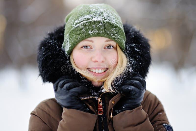 Mulher bonita nova no inverno foto de stock royalty free