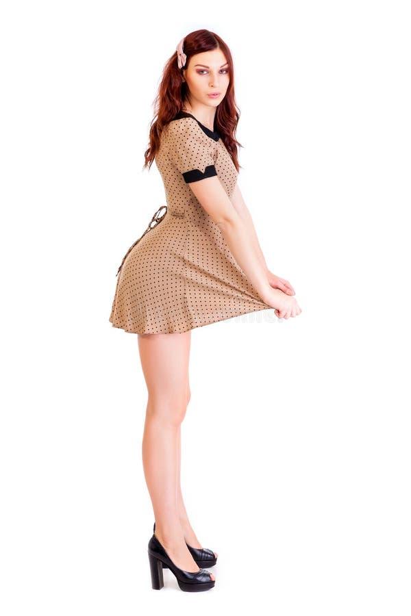A mulher bonita veste a roupa 'sexy' foto de stock royalty free