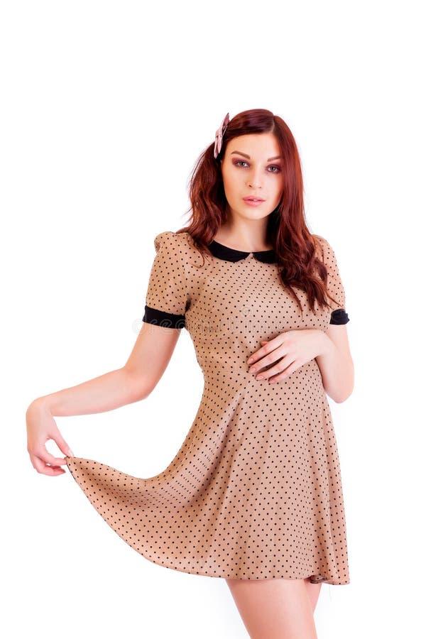A mulher bonita veste a roupa 'sexy' foto de stock