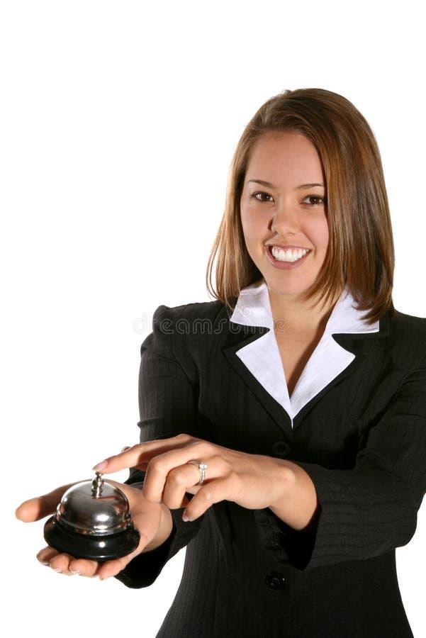 Mulher bonito do serviço de atenção a o cliente fotos de stock royalty free