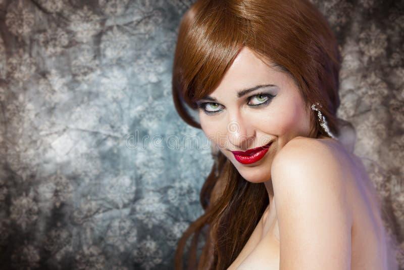 Mulher brilhante fresca bonita do Close-up fotos de stock