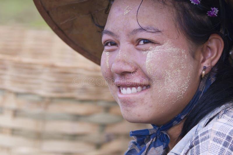 Mulher Burmese imagens de stock