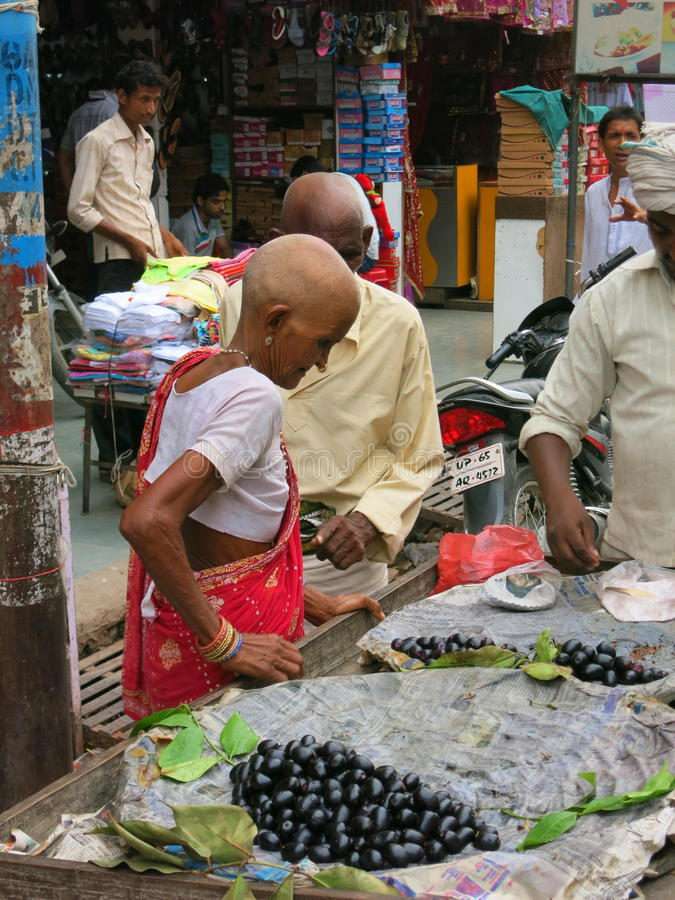 Mulher calva indiana fotografia de stock royalty free