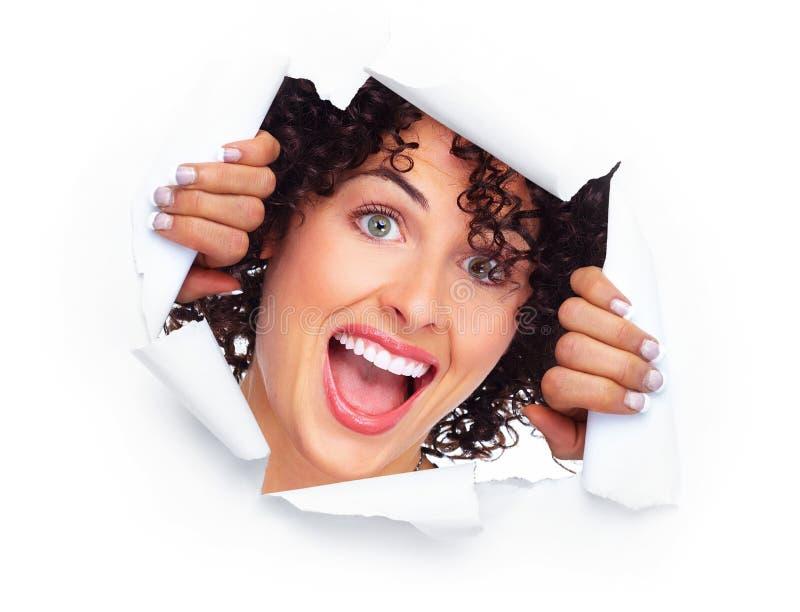 Mulher caucasiano alegre feliz foto de stock royalty free