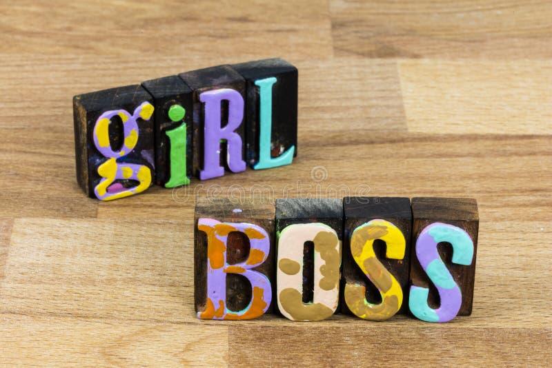 Mulher chefe lidera mulher determinação feminina sucesso feminino imagens de stock royalty free