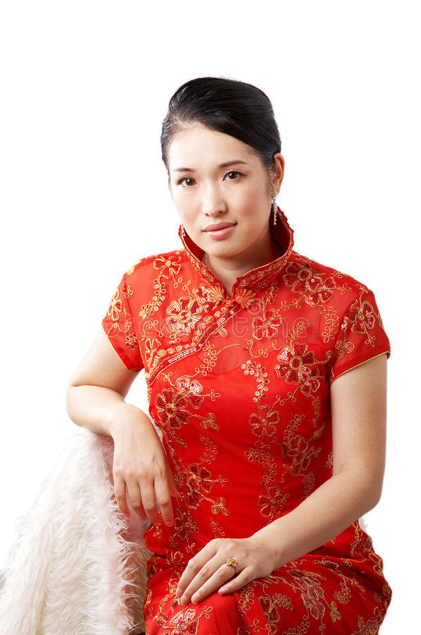 Mulher chinesa foto de stock royalty free