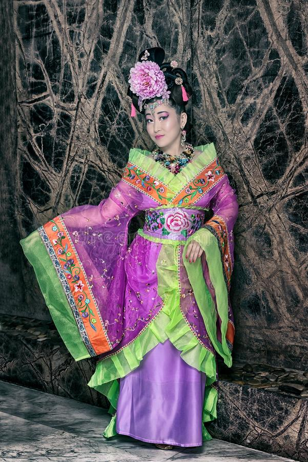 Mulher chinesa fotografia de stock royalty free