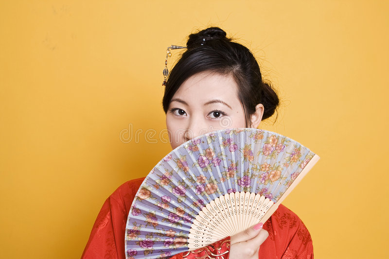 Mulher chinesa da dinastia de Han imagens de stock
