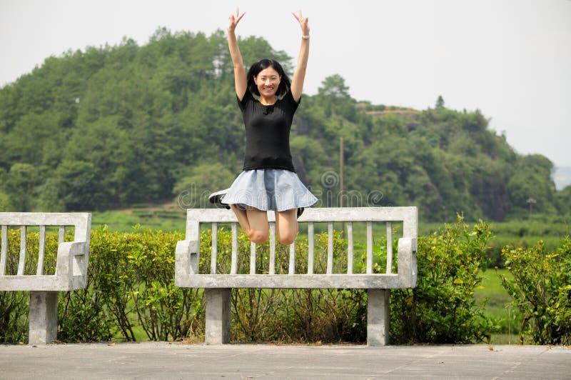 Mulher chinesa feliz imagens de stock