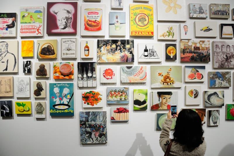Mulher chinesa que toma imagens da arte fotos de stock royalty free