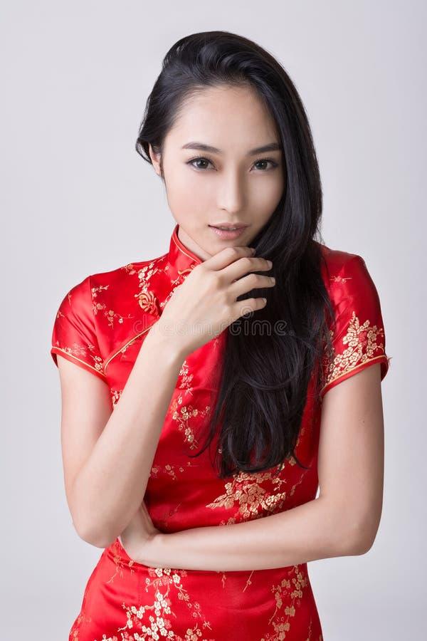 Mulher chinesa 'sexy' imagem de stock