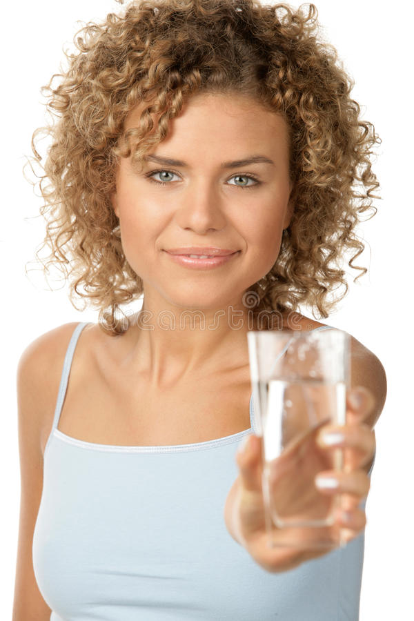 Mulher com água foto de stock royalty free