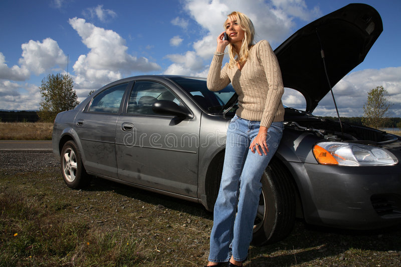 Mulher com auto problema fotografia de stock