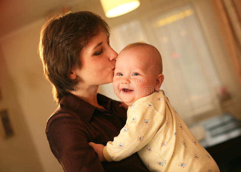 Mulher com bebê foto de stock royalty free