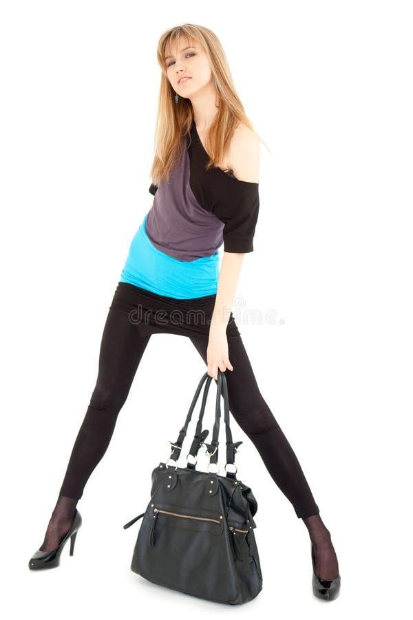 Mulher com bolsa imagem de stock royalty free