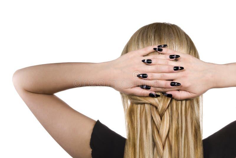 Mulher com cabelo louro imagens de stock