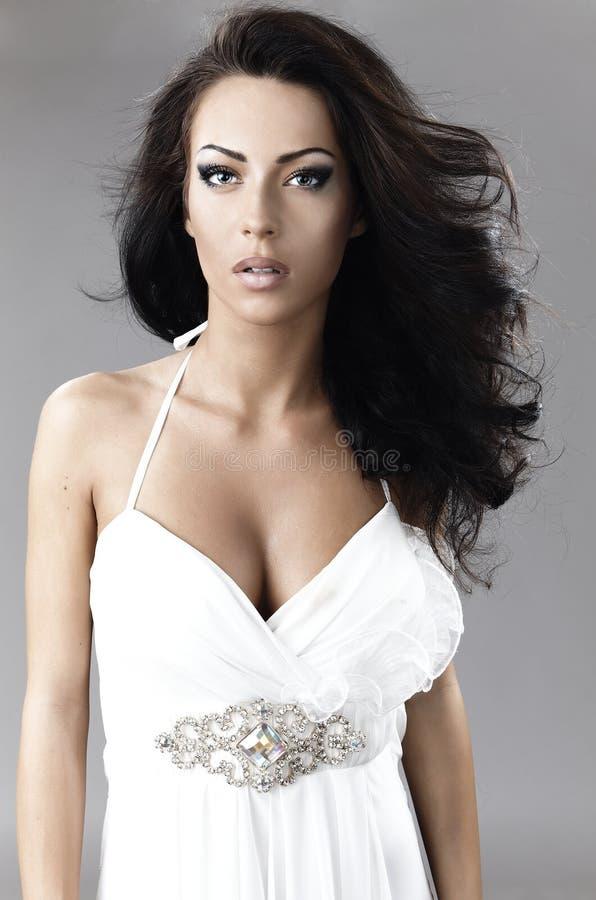 Mulher com cabelo magnífico foto de stock royalty free