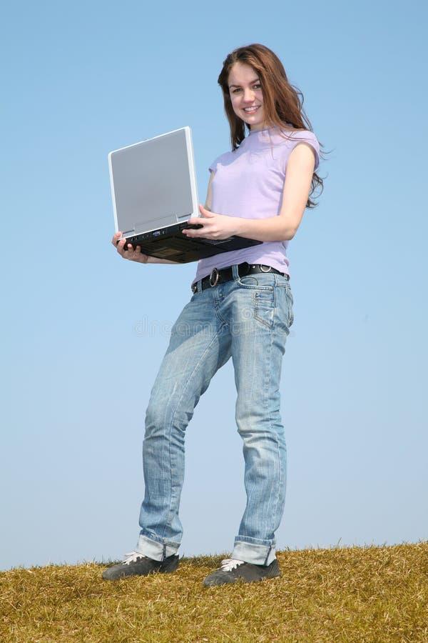 Mulher com caderno foto de stock royalty free