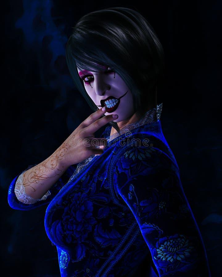 Mulher com cara pintada imagem de stock royalty free