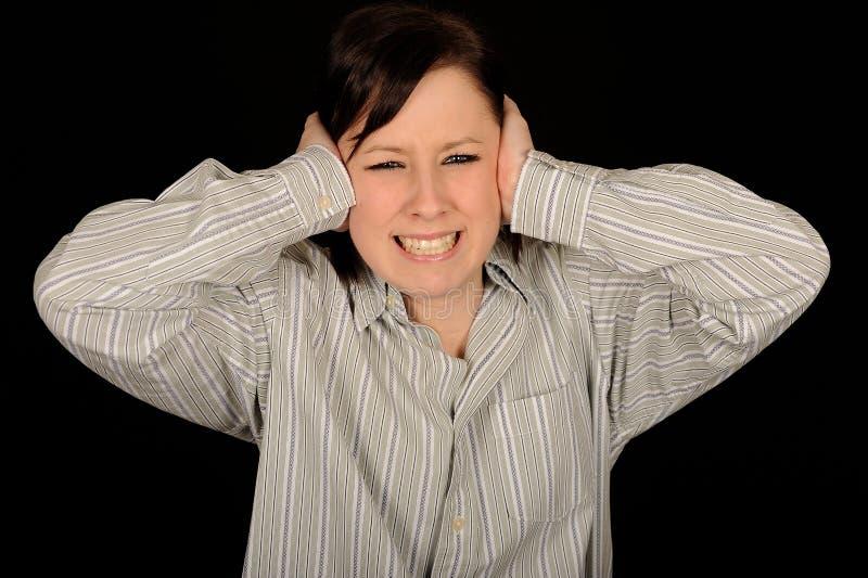 A mulher com cede as orelhas fotos de stock royalty free