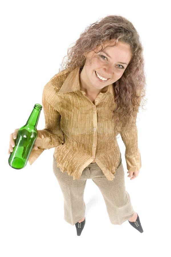 Mulher com cerveja imagem de stock royalty free