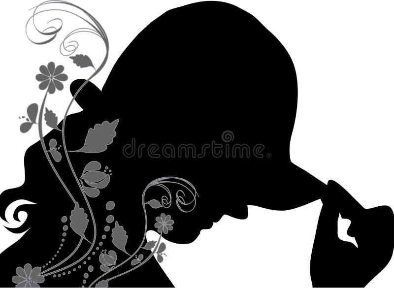 Mulher com chapéu ilustração stock