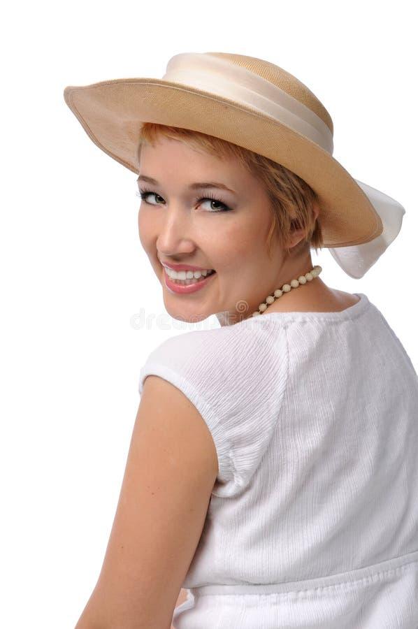 Mulher com chapéu foto de stock royalty free