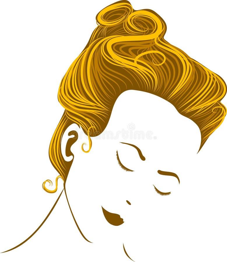 Mulher com coiffure ilustração royalty free