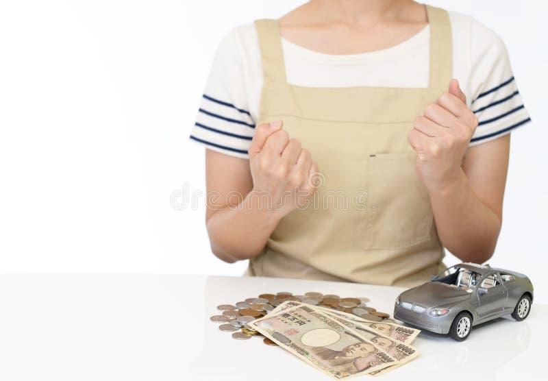 Mulher com dinheiro fotos de stock